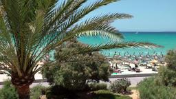 Spain Mallorca Island Playa de Palma 014 sea view from a vacation apartment Footage