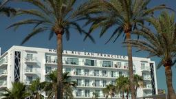Spain Mallorca Island Playa de Palma 028 RIU hotel at beach promenade Footage
