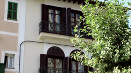 Spain Mallorca Island Sóller 007 typical city house in old town Footage