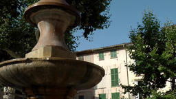 Spain Mallorca Island Sóller 010 water well on old town market place closeup Footage