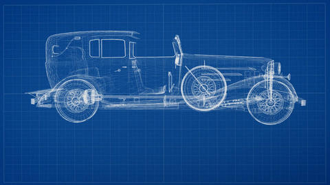 Vintage Car Concept Design Animation
