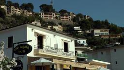 Spain Mallorca Island Sóller 021 restaurant below of Port Sóller hillside Footage