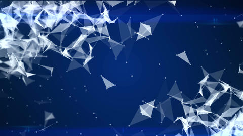 Stylish abstract engineering, technology and science motion background. Plexus s Animation