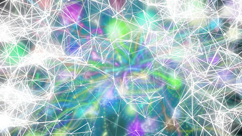 Lines and Points Matrix With Colored Lights - Abstract Motion Backgrounds for Mu CG動画素材