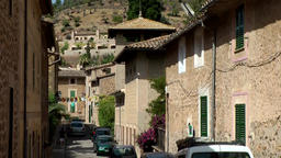 Spain Mallorca Island various 042 rustic street of houses in village Deia Footage