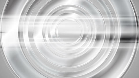 Abstract silver chrome circles and shiny stripes video animation Animation