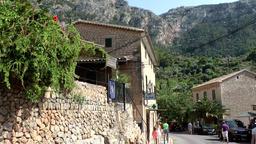 Spain Mallorca Island various 052 idyllic street view in Deia village Footage