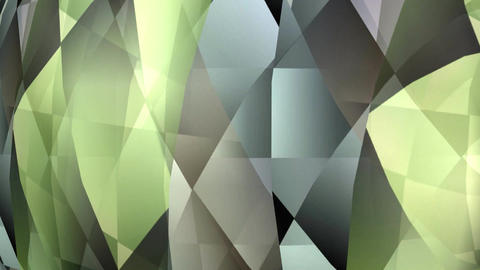 Abstract green and grey polygonal texture rotating, animated video background, F
