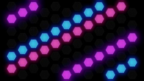 Hex Spot Light 01 Vj Loop Animation