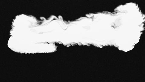Flowing white on black abstract painting background Animation