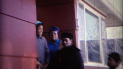 1969: African American women funny formal style colorful hats and earmuffs Footage