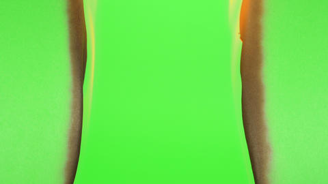 Burning Green Screen on a Green Background Footage
