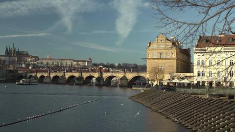 Charles Bridge Prague Footage