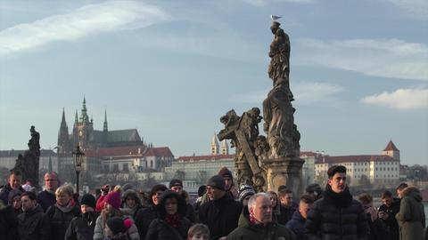 Charles Bridge Prague Timelapse Footage