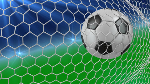 soccer ball in net Animation