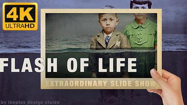 Flash of life slideshow 4k Plantilla de Apple Motion