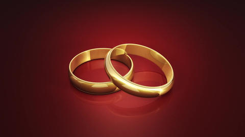 Wedding Rings. 3D animation Bild