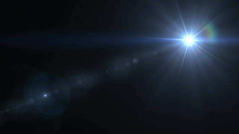 Lens Flare lights animation CG動画