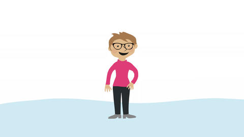 Woman trying on different glasses. Concept of choice, decisions and fashion Animation