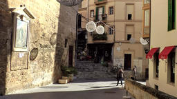 Spain Palma de Mallorca 080 old town alleys and stairs Footage