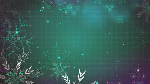 Gentle Christmas snowflakes seamlessly loop-able Background animation 画像