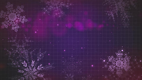 Multipurpose abstract background animation falling snowflakes seamlessly loop-ab Animation