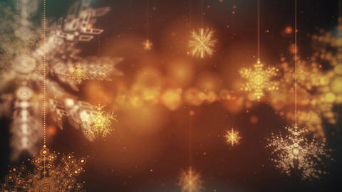 Snow Flakes Falling Animated Festive Abstract Motion loop Background
