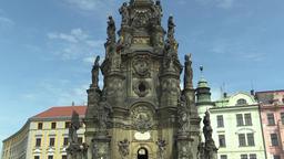 UNESCO heritage plague column, town Olomouc ビデオ
