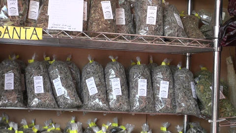 many various herbs and other spices in city market Footage