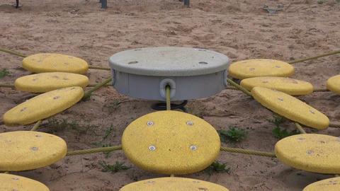 Children playground equipment in the park Footage