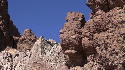 Rocks in Teide National Park, Tenerife, Spain Footage