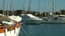 Spain Mallorca Island small town Porto Cristo 004 small harbor with boats Footage