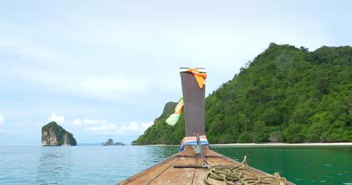 Ocean Boat Ride In Thailand Footage