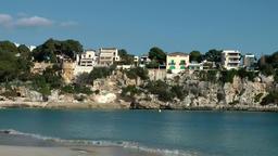 Spain Mallorca Island small town Porto Cristo 011 houses on a cliff Footage