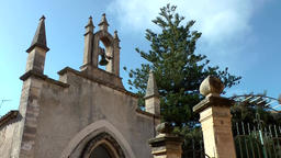 Spain Mallorca Island Sineu village 005 chapel and entrance of cemetery Footage