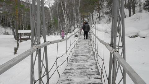 Cable suspension Bridge Live Action