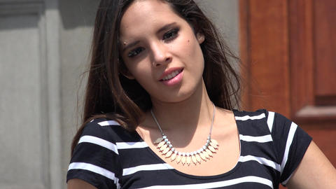 Peruvian Young Girl Teenager Footage