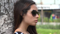 Peruvian Female Wearing Sunglasses Live Action