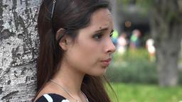 Sad Teenage Female Stock Video Footage