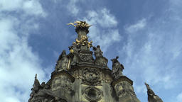 UNESCO heritage plague column, town Olomouc Footage