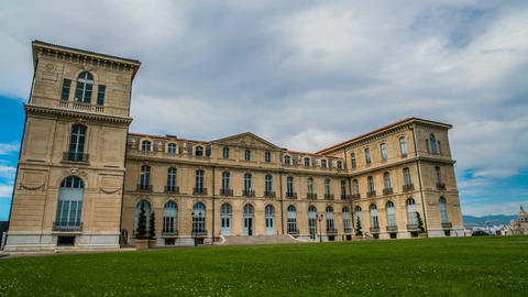 Main entrance of Faro Palace, medicine faculty building... Stock Video Footage