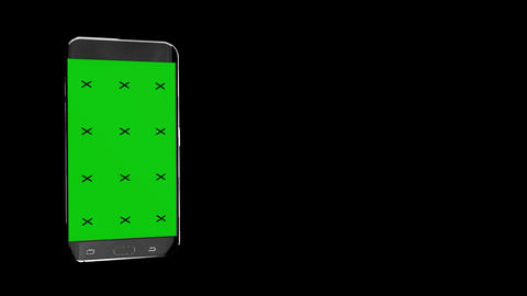 Smart Phone Animation With Green Screen Alpha Channel And Screen Reflections Animation