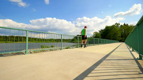 Skater On Bridge 1