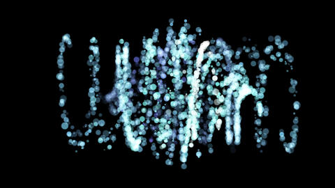 Abstract particles rotating. Moving motion graphics backdrop Animation