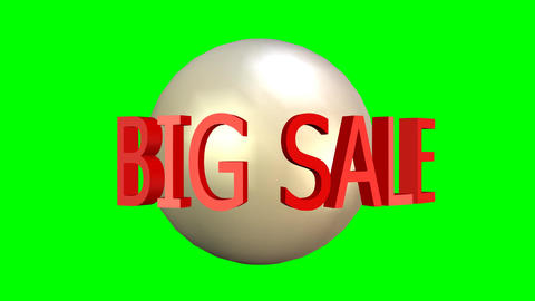 Big sale video advertising banner. Bomb explosion, rotating text, discount up to Animation