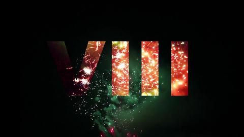 Roman Countdown Fireworks 01 Animación