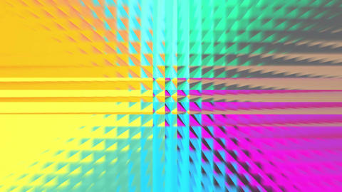 Abstract rainbow color square pattern 4K Image