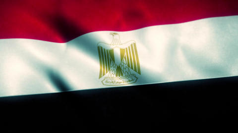Egypt Flag Blowing in the Wind Animation