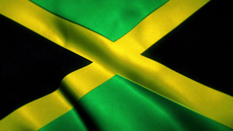 Jamaica Flag Blowing in the Wind Animation