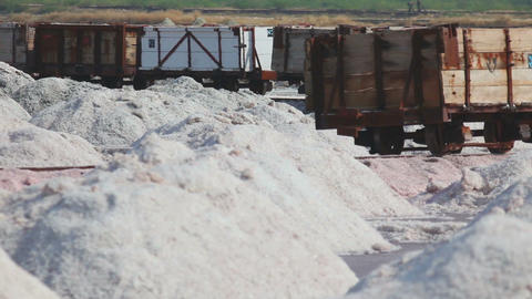 Salt mining in Sambhar Footage